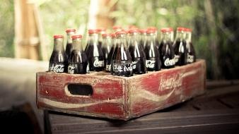 Cocacola bottles soda vintage wallpaper