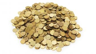 Coins money treasure wallpaper