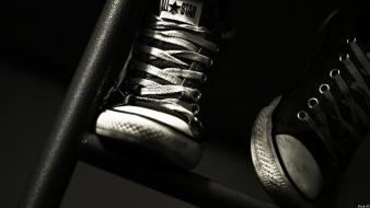 Converse all star black monochrome shoes wallpaper