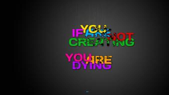 Creativity death multicolor typography Wallpaper