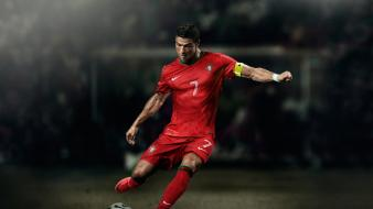 Cristiano ronaldo portugal balls captain football teams wallpaper