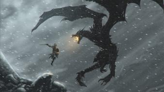 Dovahkiin pc rpg the elder scrolls v skyrim Wallpaper