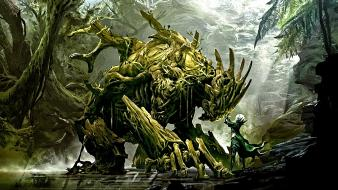 Druid guild wars 2 artwork fantasy art monsters Wallpaper