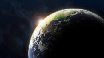 Earth outer space science fiction wallpaper