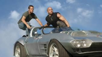 Fast and furious actors cars film post wallpaper