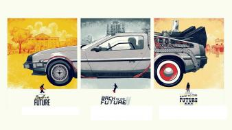 Future delorean dmc12 minimalistic movies time machine wallpaper