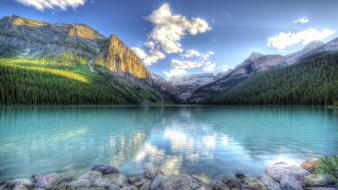 Hdr photography forests lakes land landscapes wallpaper
