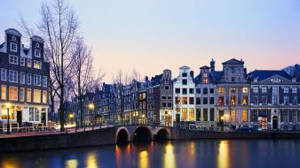 Holland the netherlands bridges cities cityscapes wallpaper