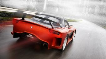 Mazda rx7 veilside automobiles cars red wallpaper