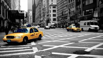 New york city color splash taxi wallpaper