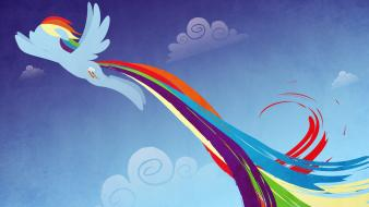 Pony friendship is magic rainbow dash pegasus Wallpaper