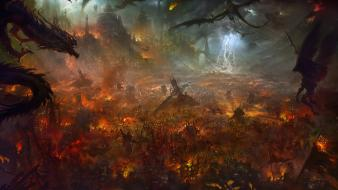 Shuxing li artwork battles demons fantasy art Wallpaper
