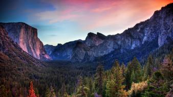 Yosemite national park land landscapes nature valleys wallpaper