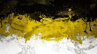 Abstract black textures white yellow wallpaper