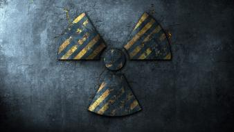 Abstract dark nuclear radiation symbol wallpaper