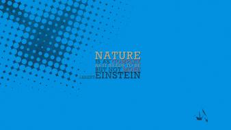 Albert einstein blue minimalistic quotes typography Wallpaper