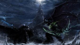 Arthas illidan stormrage lich king warcraft iii armor wallpaper
