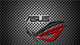 Asus rog republic of gamers steel wallpaper