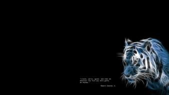 Black background quotes tigers Wallpaper