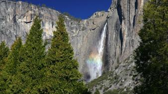 California national park yosemite falls mist wallpaper