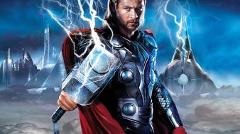 Chris hemsworth mjolnir thor movie Wallpaper
