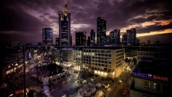 Cityscapes frankfurt am main skyscrapers towns wallpaper