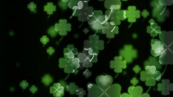 Clovers four leaf clover irish luck wallpaper