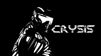 Crysis abstract black minimalistic text Wallpaper