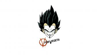 Dragonball vegeta v for vendetta artwork crossovers wallpaper