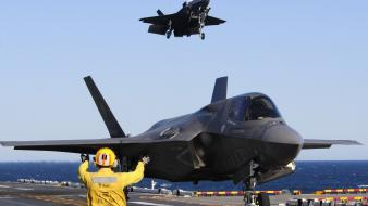 F35 lightning ii aircraft carriers military wallpaper