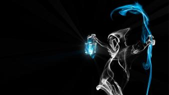 Fantasy art grim reapers lanterns smoke Wallpaper