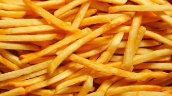 Food french fries fried potatoes yellow wallpaper