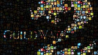 Guild wars 2 logos mosaic video games wallpaper