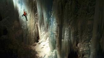 Ice climbers climbing events wallpaper
