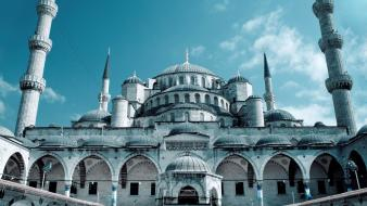 Istanbul turkey cityscapes grand mosques wallpaper