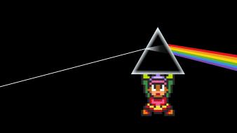 Link pink floyd the legend of zelda prism wallpaper