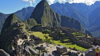 Machu pichu peru architecture landscapes mountains Wallpaper