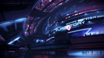 Mass effect 3 artwork club futuristic outer space wallpaper