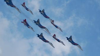 Mig29 fulcrum su27 flanker aircraft air force clouds Wallpaper