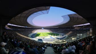 Munich olympic stadium arena sports wallpaper