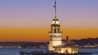 Turkey cityscapes kız kulesi tower wallpaper