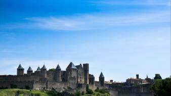 Carcassonne france architecture castles cityscapes Wallpaper