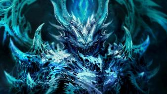 Diablo artwork blue fantasy art frozen wallpaper