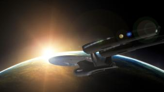 Enterprise star trek outer space planets wallpaper