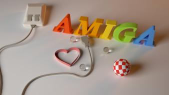Amiga digital art 3d mice wallpaper