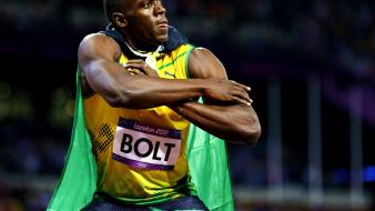 Athletes celebration usain bolt winning olympics 2012 wallpaper