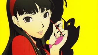 Background faces yellow amagi yukiko soejima shigenori wallpaper