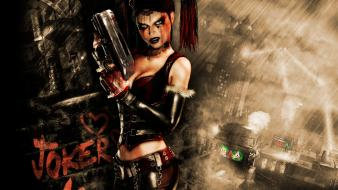Batman harley quinn arkham asylum artwork wallpaper