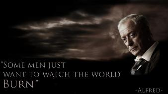Batman michael caine alfred pennyworth the dark knight wallpaper