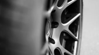 Black and white cars macro wheels rims wallpaper